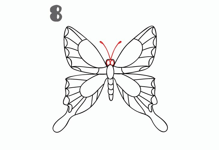Kako Nacrtati Leptira