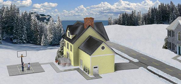 Solarni paneli otapaju sneg