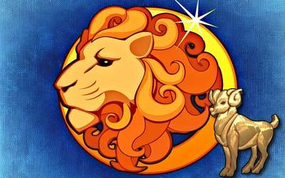 žena ovan i muškarac lav